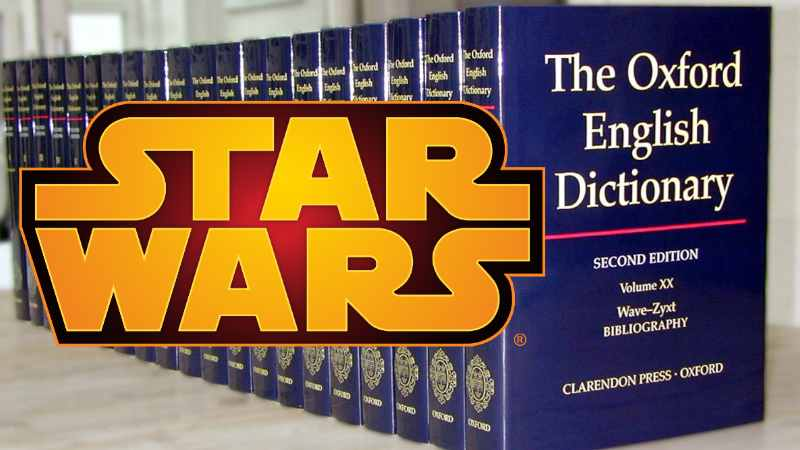 Star Wars Oxford English Dictionary Dizionario Inglese Jedi padawan force lightsaber