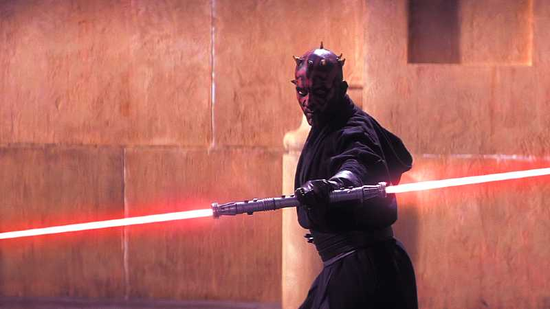 Darth Maul Star Wars spada laser doppia lama