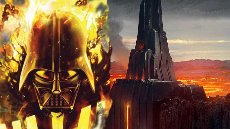 Star Wars Darth Vader Mustafar segreto