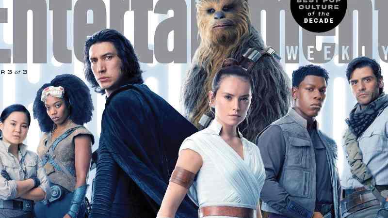 Star Wars Entertaiment Weekly copertina ascesa di skywalker(1)