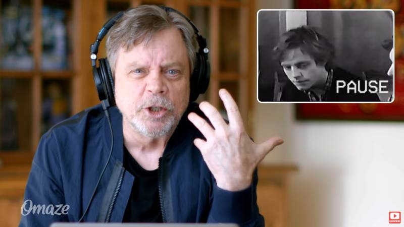 Star Wars Mark Hamill Luke Skywalker Audizione Video reazione reaction