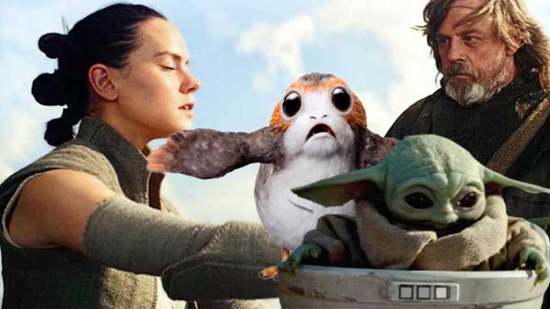Star Wars Rey Porg Baby Yoda