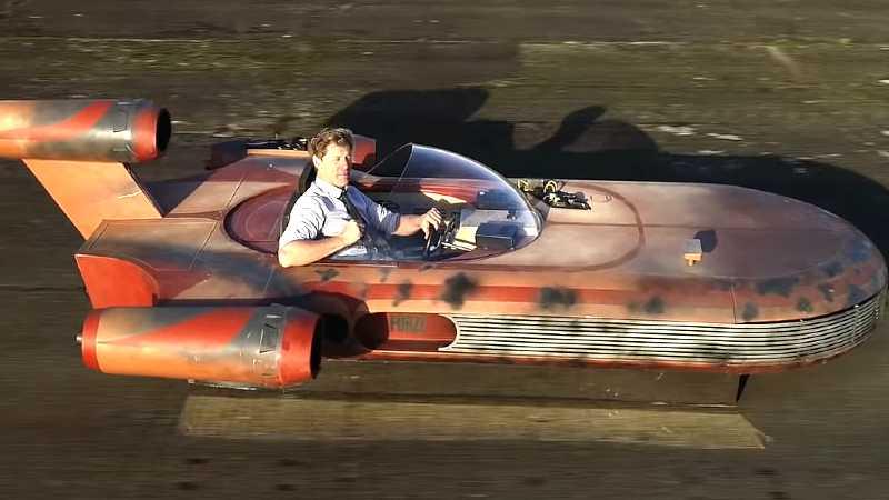 Star Wars Colin Furze video yutube landspeed at-act