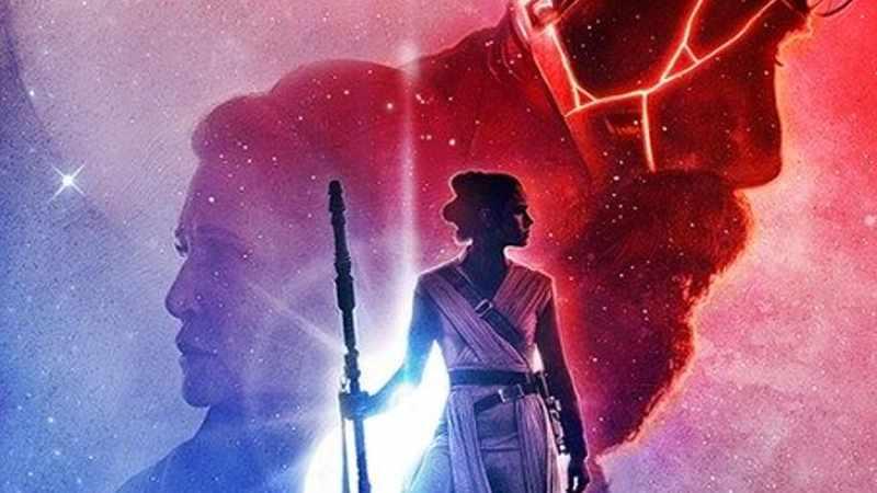 Star Wars Leia Rey Luke poster imax 9