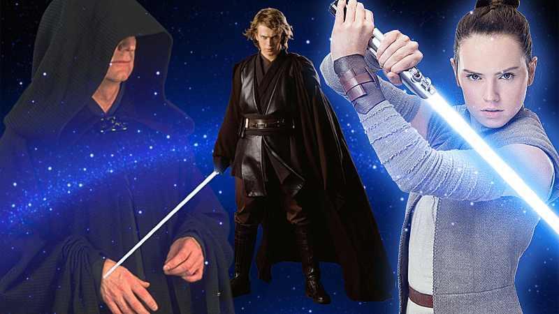 Star Wars Profezia Prescelto Guerre Stellari Anakin Skywalker Rey Palpatine