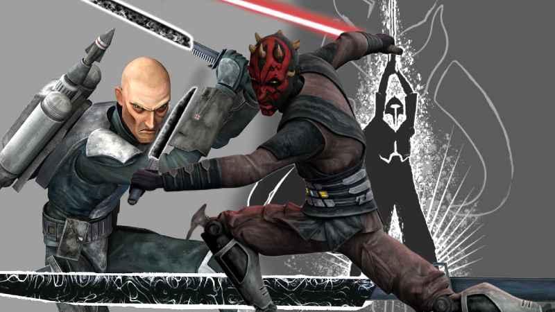 Star Wars Darksaber Guerre Stellari spada laser nera mandalore