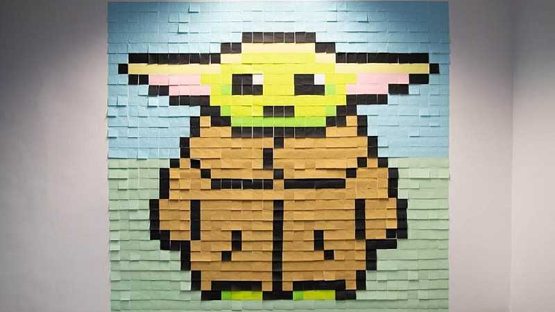 Star Wars Viking Post it Baby Yoda