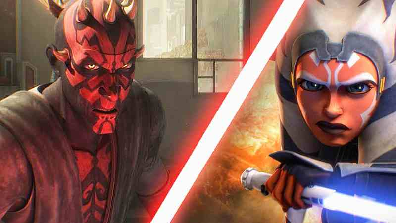 Star Wars Ahsoka Tano Maul Battaglia Scontro Duello The Clone Wars(1)