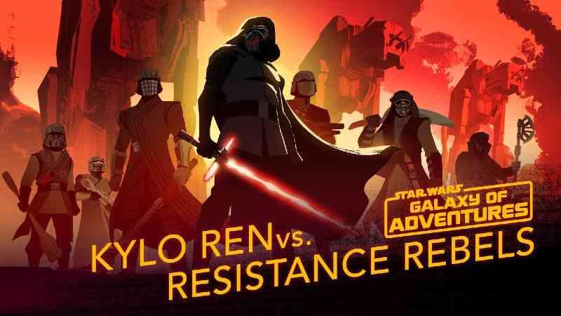 Star Wars Kylo Ren vs Resistance Rebels Star Wars Galaxy of Adventures