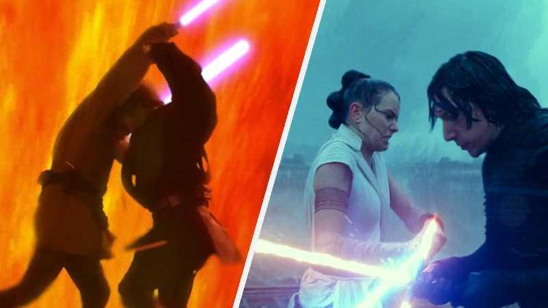Star Wars Kenobi Anakin Rey Ben Solo Kylo Ren duello(1)