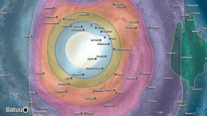 Star Wars Mappa Galassia Nuova 2020