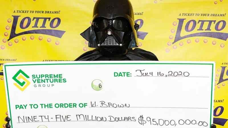 Star Wars Darth Vader lotteria costume jamaica premio foto(1)