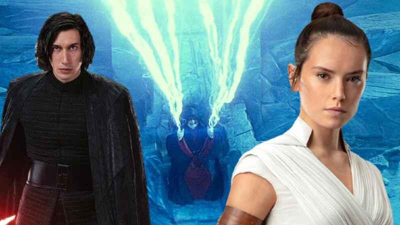 Star Wars Darth Sidious Palpatine Imperatore Exegol fulmini Forza Rey Ben Solo Kylo Ren Diade(1)